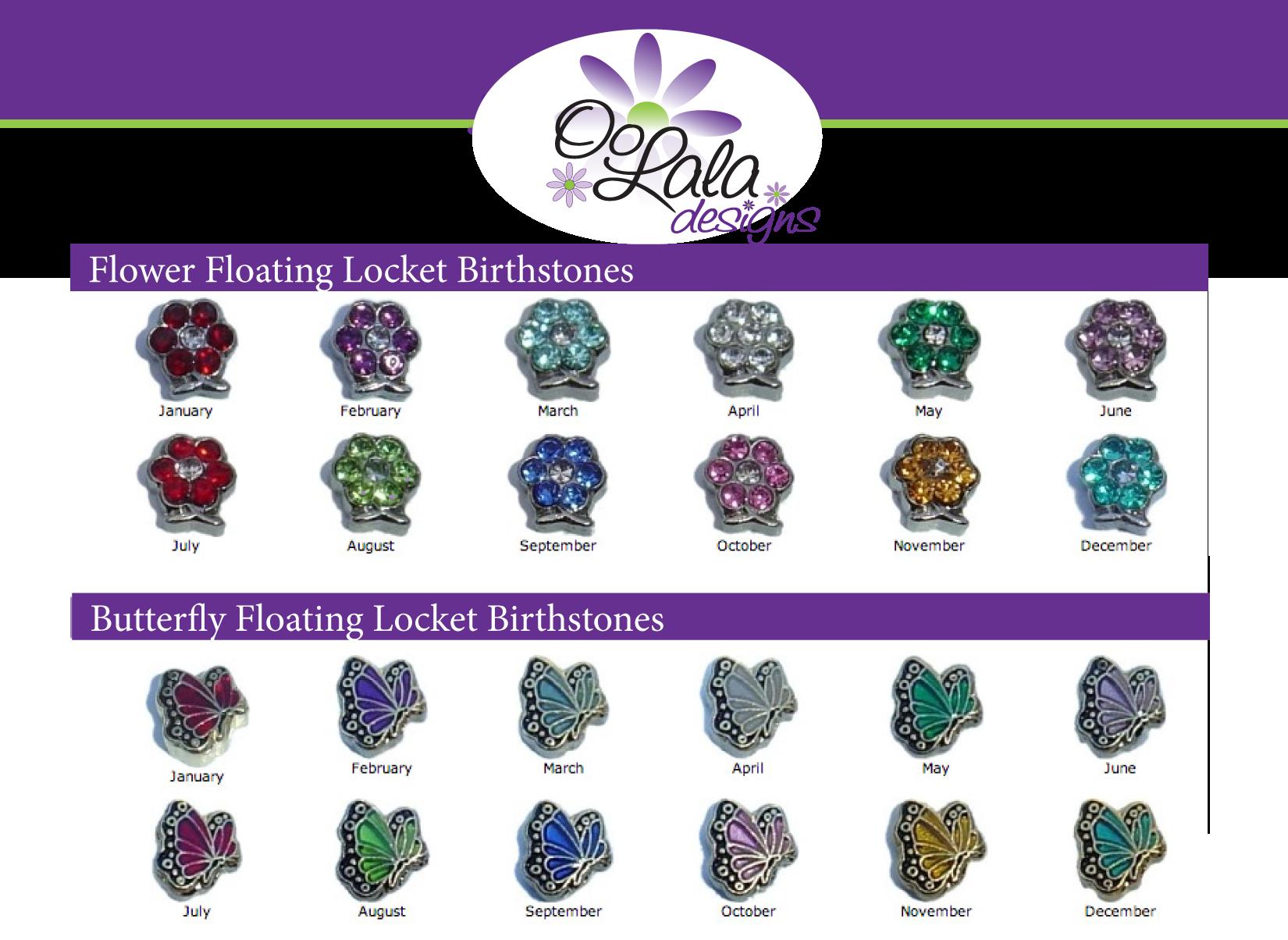 Flowers & Butterfly Birthstones · OoLala Designs · line Store Powered b