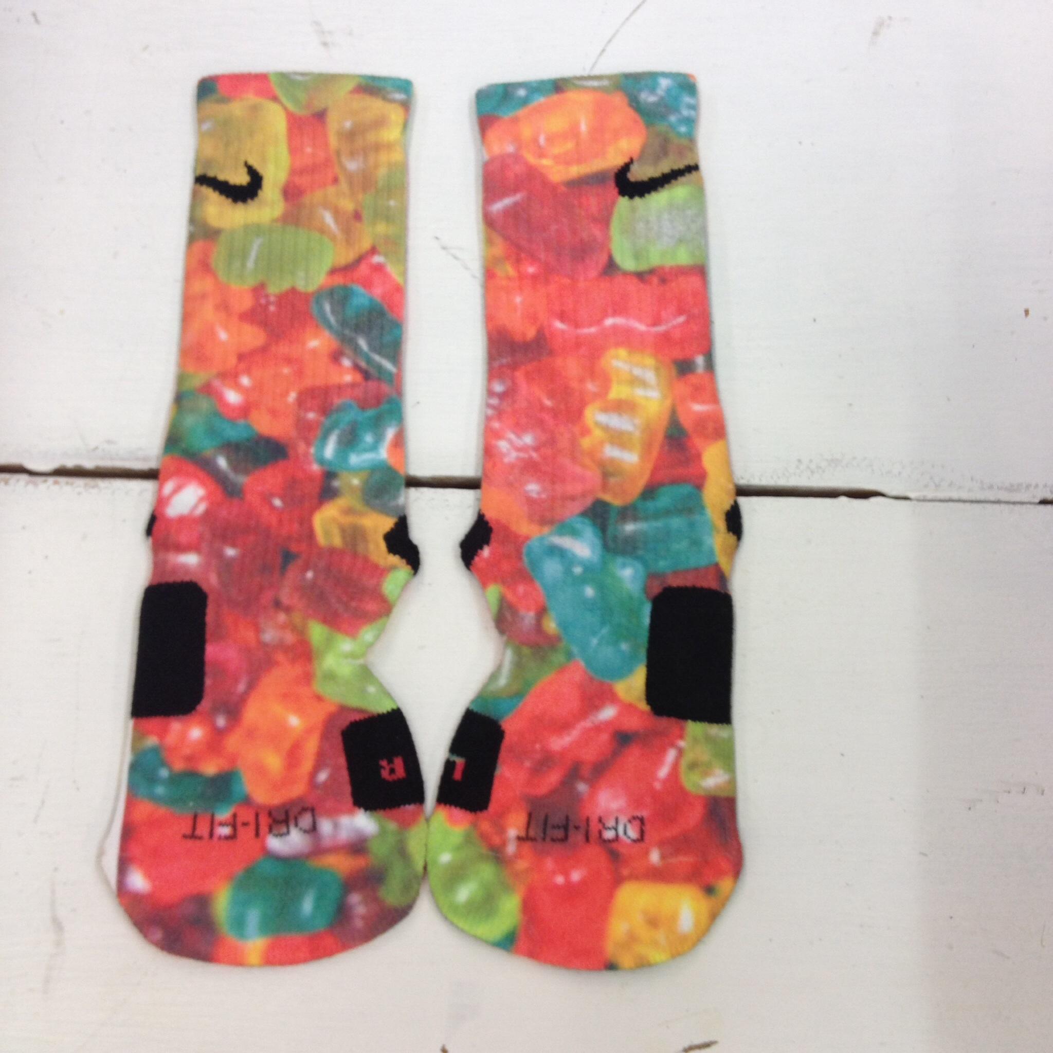 """Custom Nike Elite Socks """"gummy bears"""" on Storenvy"""