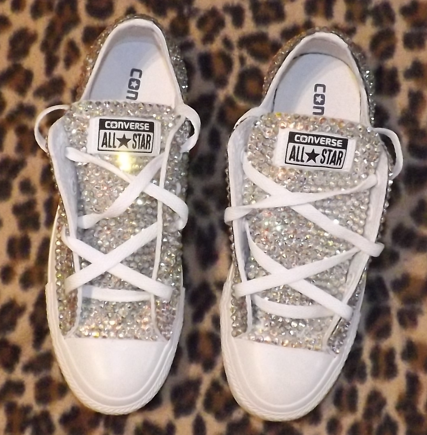 1f70e76c1b76 Swarovski Elements AB Converse in White · Million Dollar Kicks ...