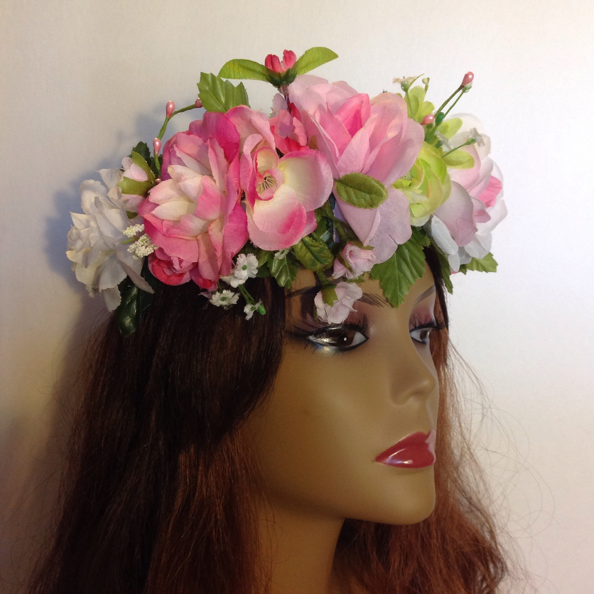 Rose flower crown rave crown festival crown bridal crown floral image small izmirmasajfo