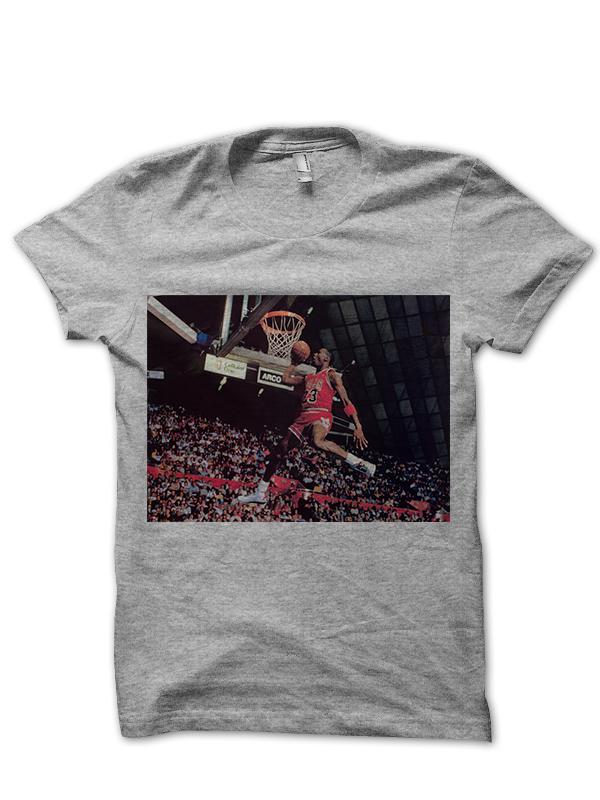 MICHAEL JORDAN CLASSIC DUNK T-SHIRT BASKETBALL SHIRTS NBA CELEBRITY ... 386523772