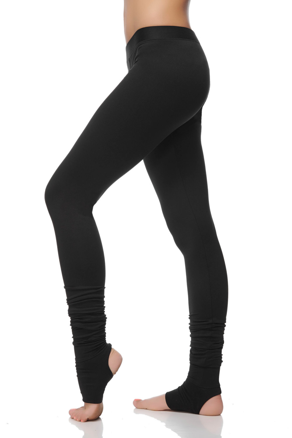 3012d4566 Extra Long Yoga Leggings - Special Leggings with Spats - Women  39 s Yoga  ...