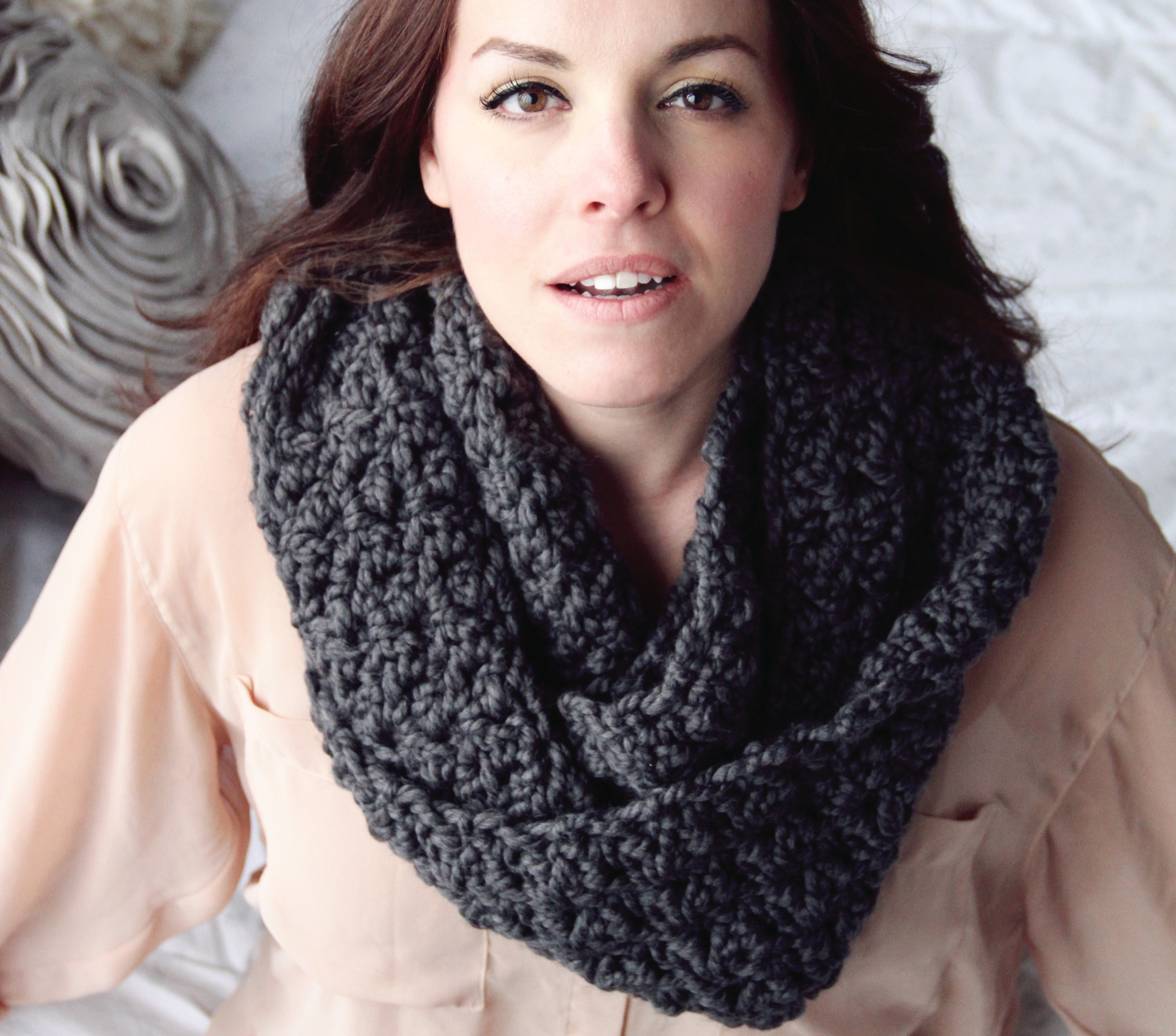 Chunky Cowl CROCHET PATTERN Infinity Scarf Wrap The CHICAGO on Storenvy