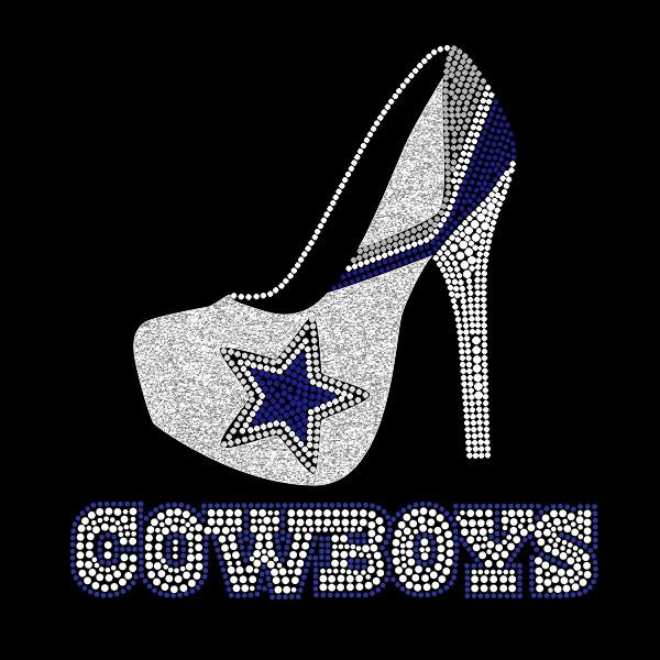 39c1a0c3f3d Dallas Cowboy High Heel Rhinestone Transfer from Faithful Sparkle