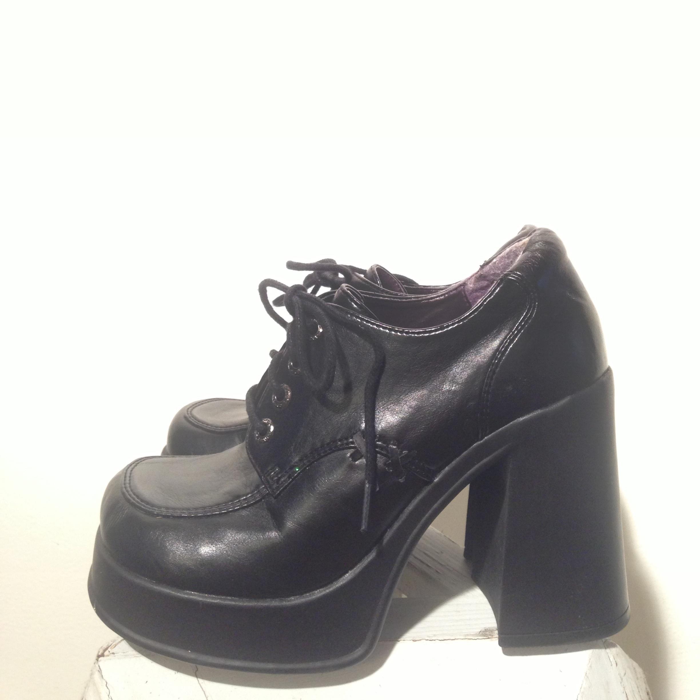 90's Platform Lace Up Shoes on Storenvy