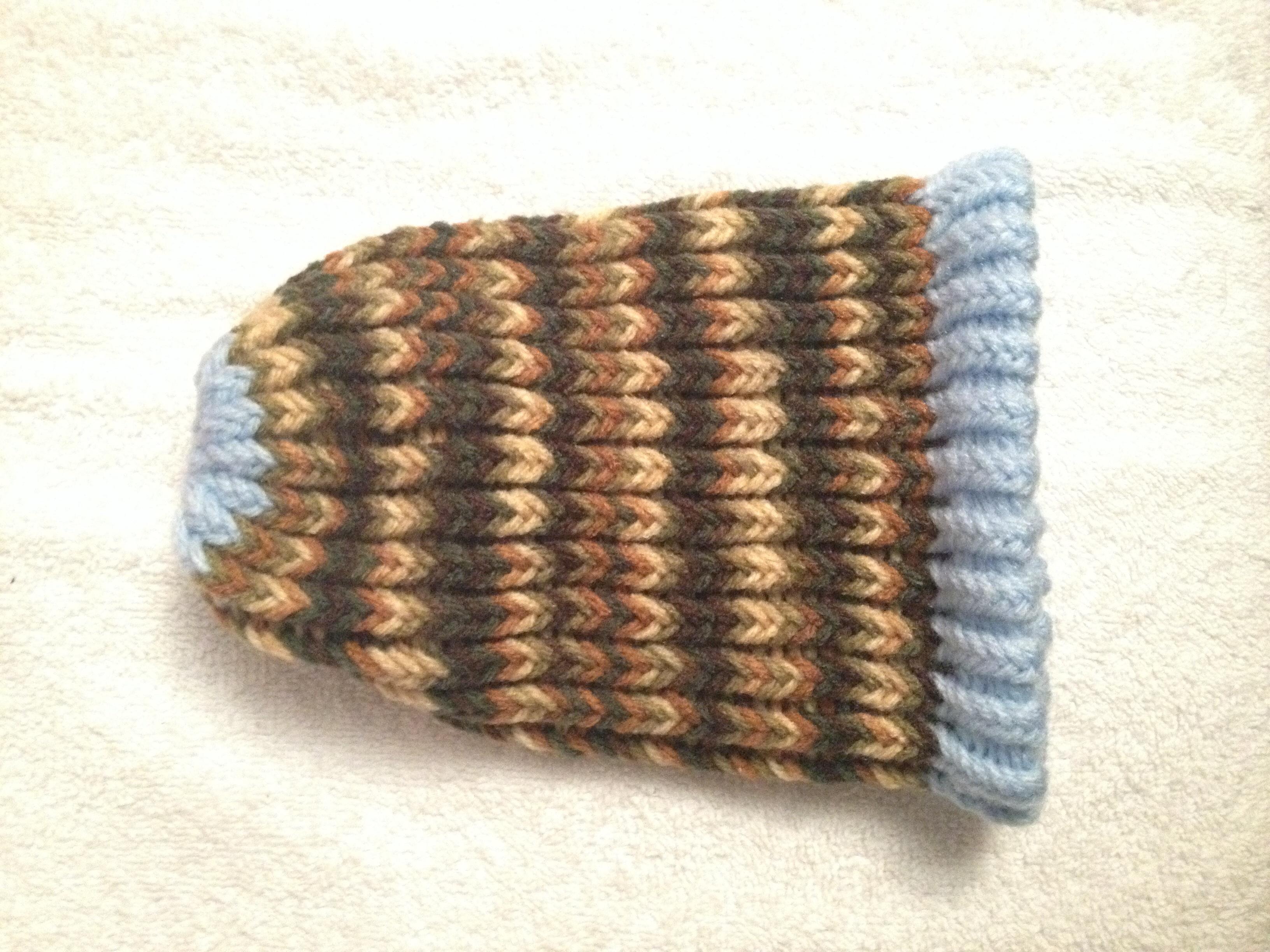 e29be4409 Camo & Light Blue Newborn Baby Hat