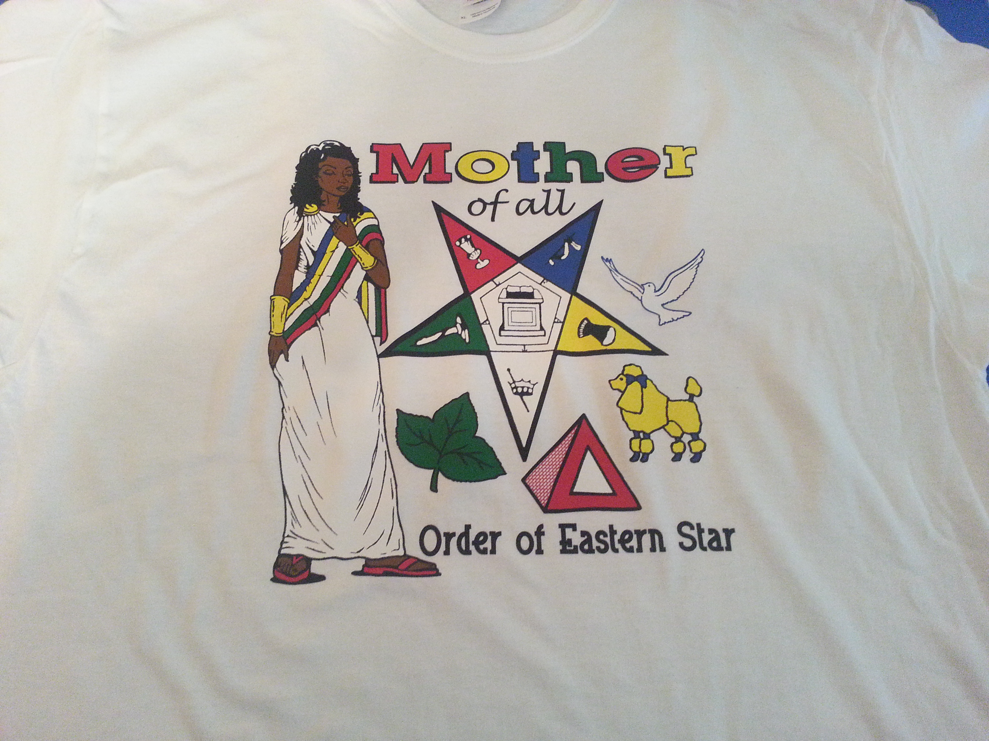 667f1ceb OES - Order of Eastern Star Mother of All White T-Shirt on Storenvy