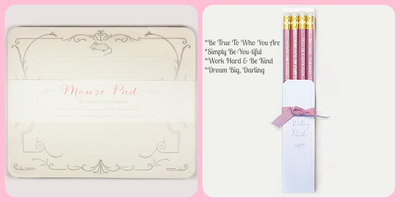 paper mouse pad pink pencil set millie larue company online