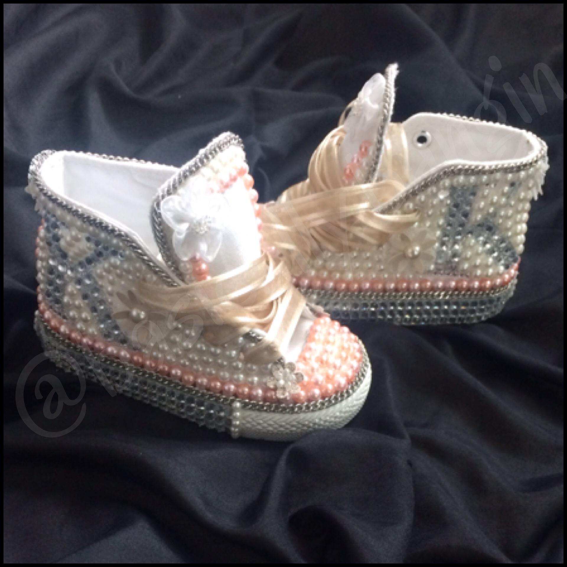07936328281a Diamonds   Pearls Chucks (BIG KIDS Sizes 4-6) on Storenvy