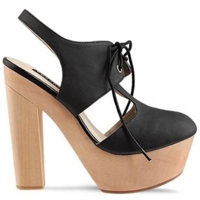 3f0f8413201 UNIF Grail Black Leather Platform Boots Shoes.  135.00. On Sale. Messeca   maru  leather cutout wood clog platform heel ...