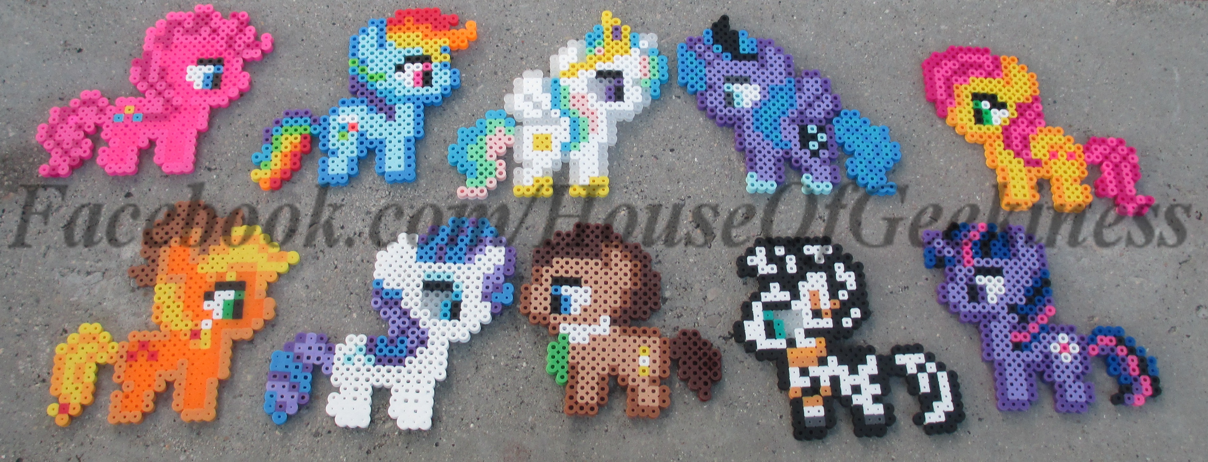 My Little Pony Inspired Set Of Magnets Ornament Or Wall