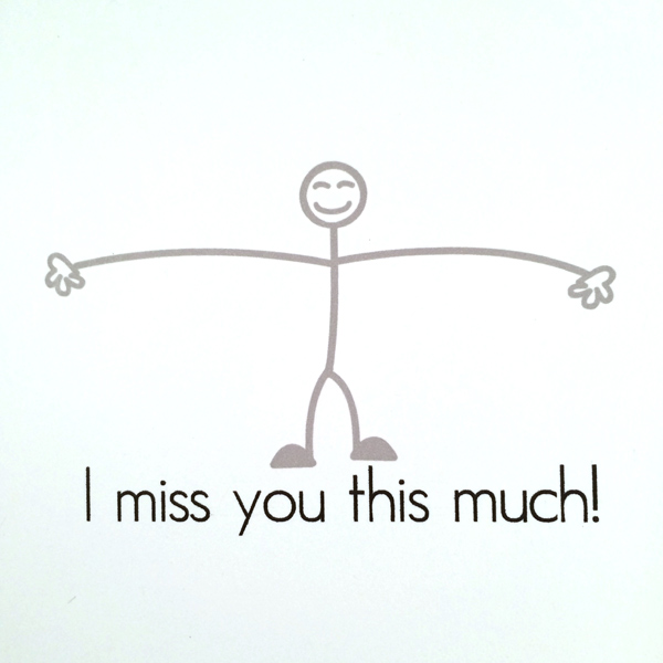 i miss you this much funny card general greeting card on storenvy