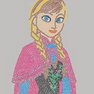 Anna Frozen Rhinestone Transfer Iron On Wholesale Available from Faithful  Sparkle