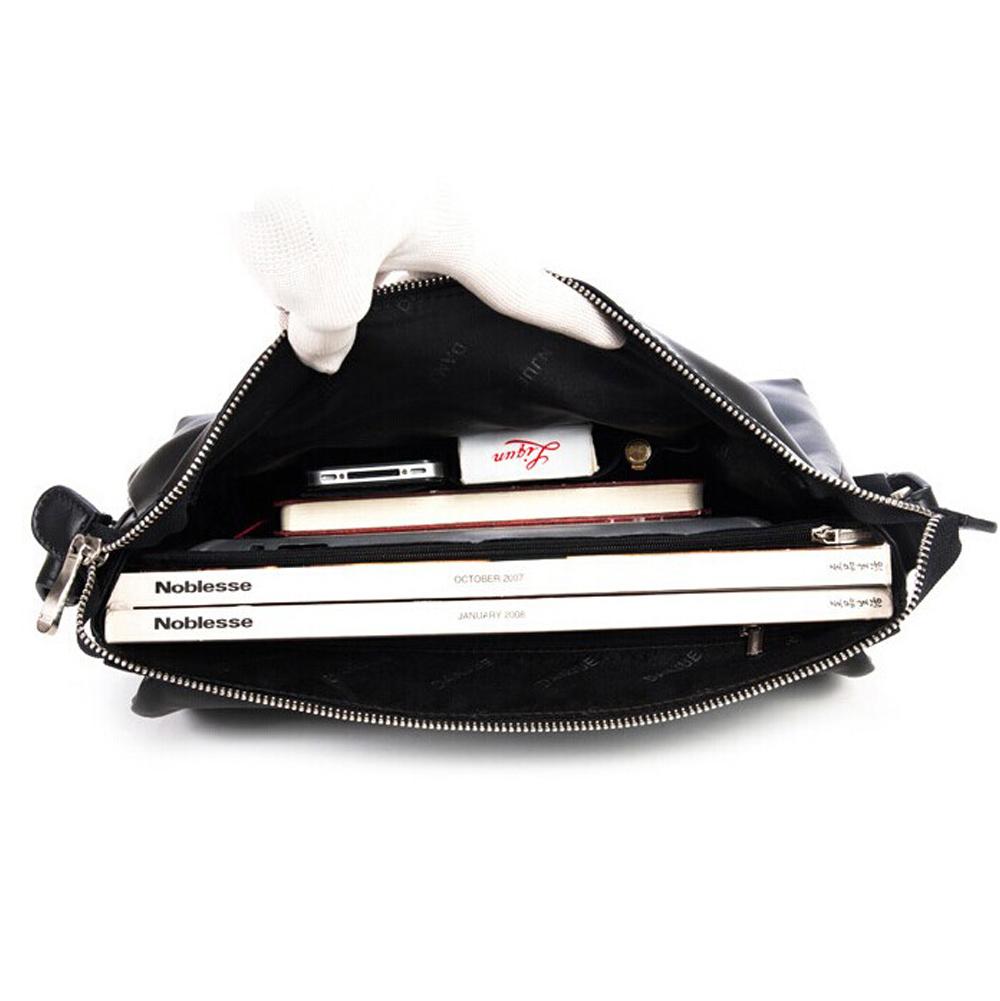 11764fd8d722 ... Men s Cowhide Leather Flapover Workbag City Courier Bag Messenger  Crossbody Bag 12