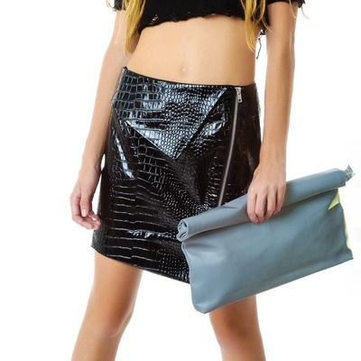 fbb2a981cfa Osfa unif realm reflective clutch purse. OSFA Unif realm reflective clutch  purse.  45.00. On Sale. Sold Out. Unif grail black leather platform boots  shoes