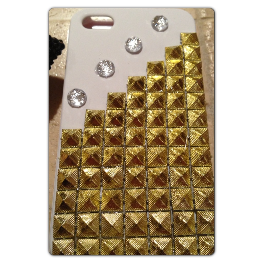 Custom White iPhone Case w/ Gold Pyramids for iPhone 5S/5 ...