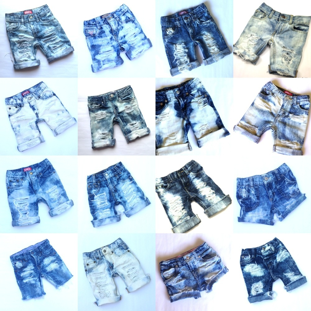c3298fbee2 Custom Made to Order Distressed Cutoffs or Skirts - Baby Destroyed Jeans -  Toddler Kids on Storenvy