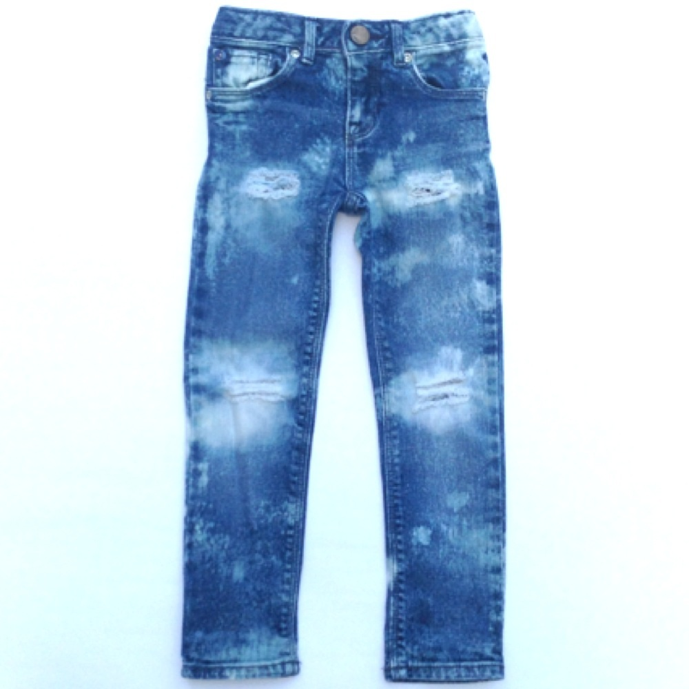 Custom Made To Order Distressed Denim Skinny Pants - Baby ...