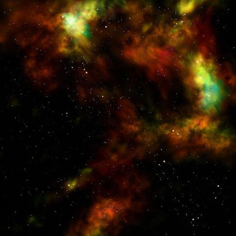 """GripMat - Orange Nebula 36"""" x 36"""" on Storenvy"""
