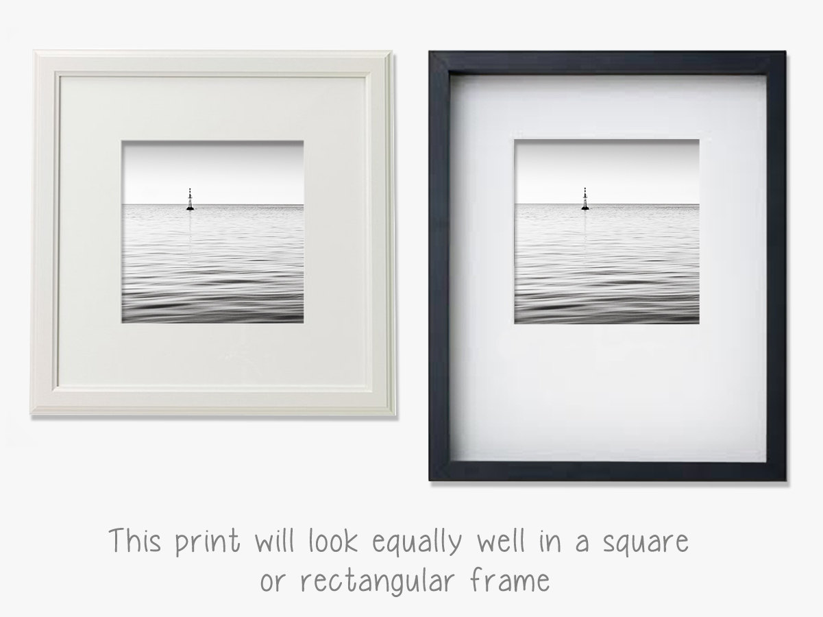 Fine art photography minimalist decor minimalist wall art black and white ocean photography sea of tranquility from maggy morrissey photography