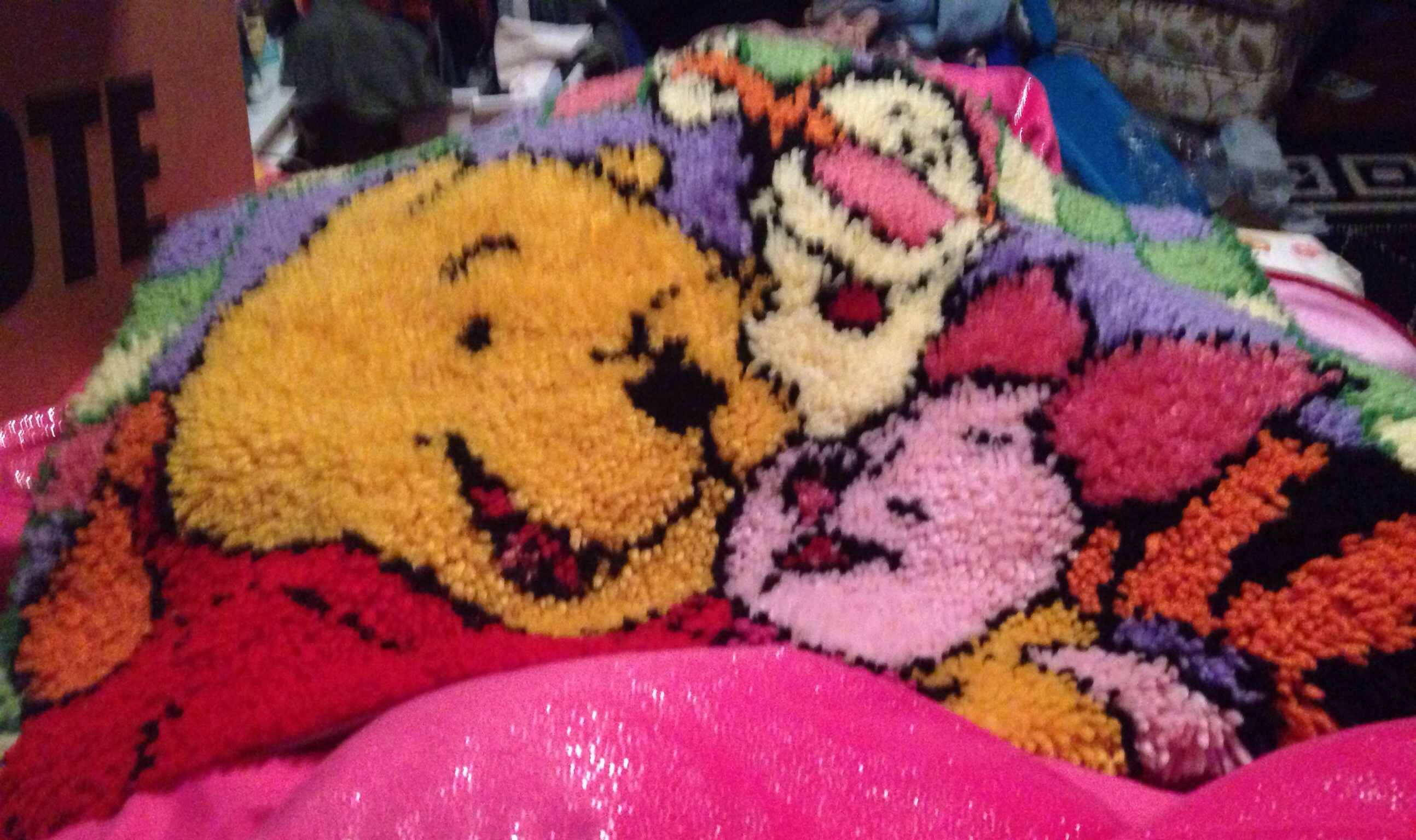 Homemade Latch Hook Rug Winnie The Pooh Tigger Piglet