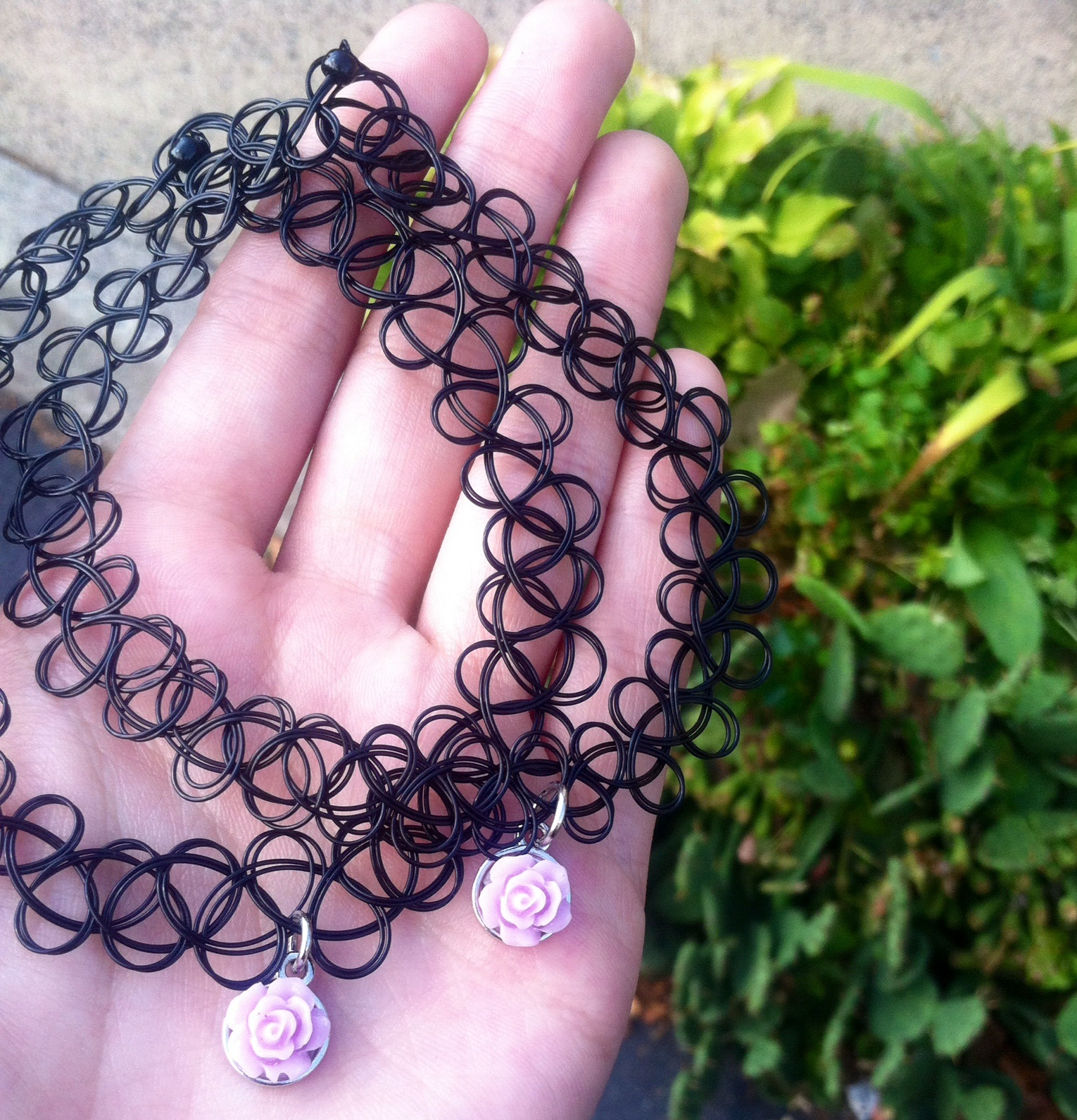 Purple Rose Tattoo Choker Baked Boutique Online Store