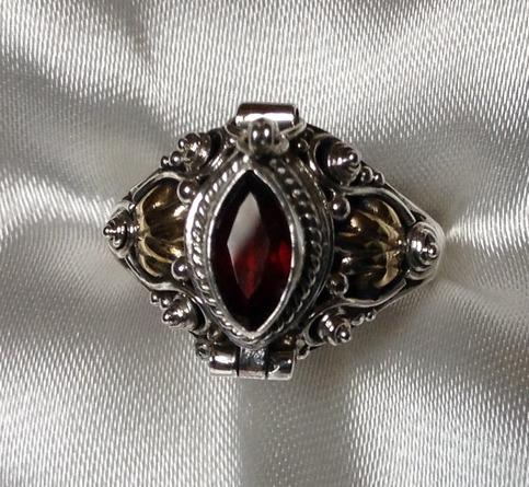 Poison Ring Garnet Sterling Silver Size 8 On Storenvy