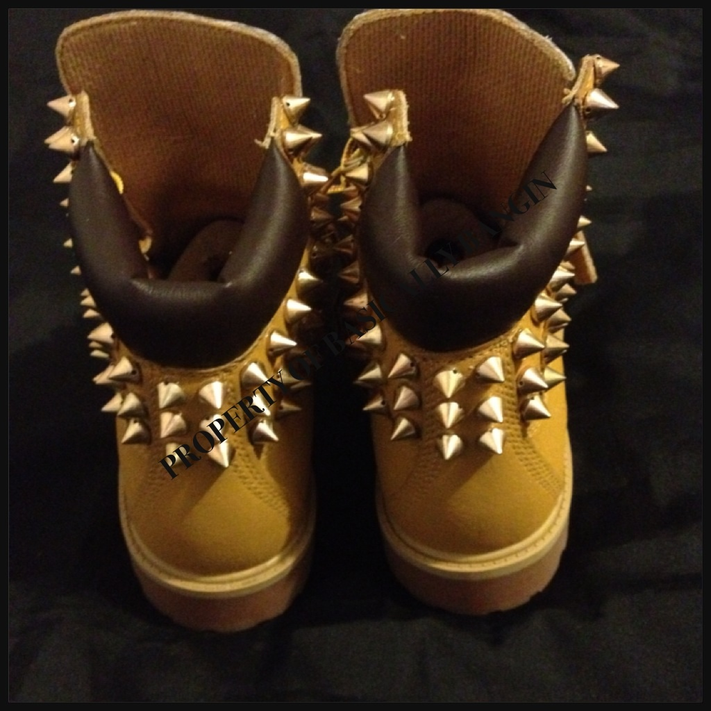 18d16119b172 ... Wheat   Leopard Gold Spiked Timberlands (INFANTS 0-3) - Thumbnail ...