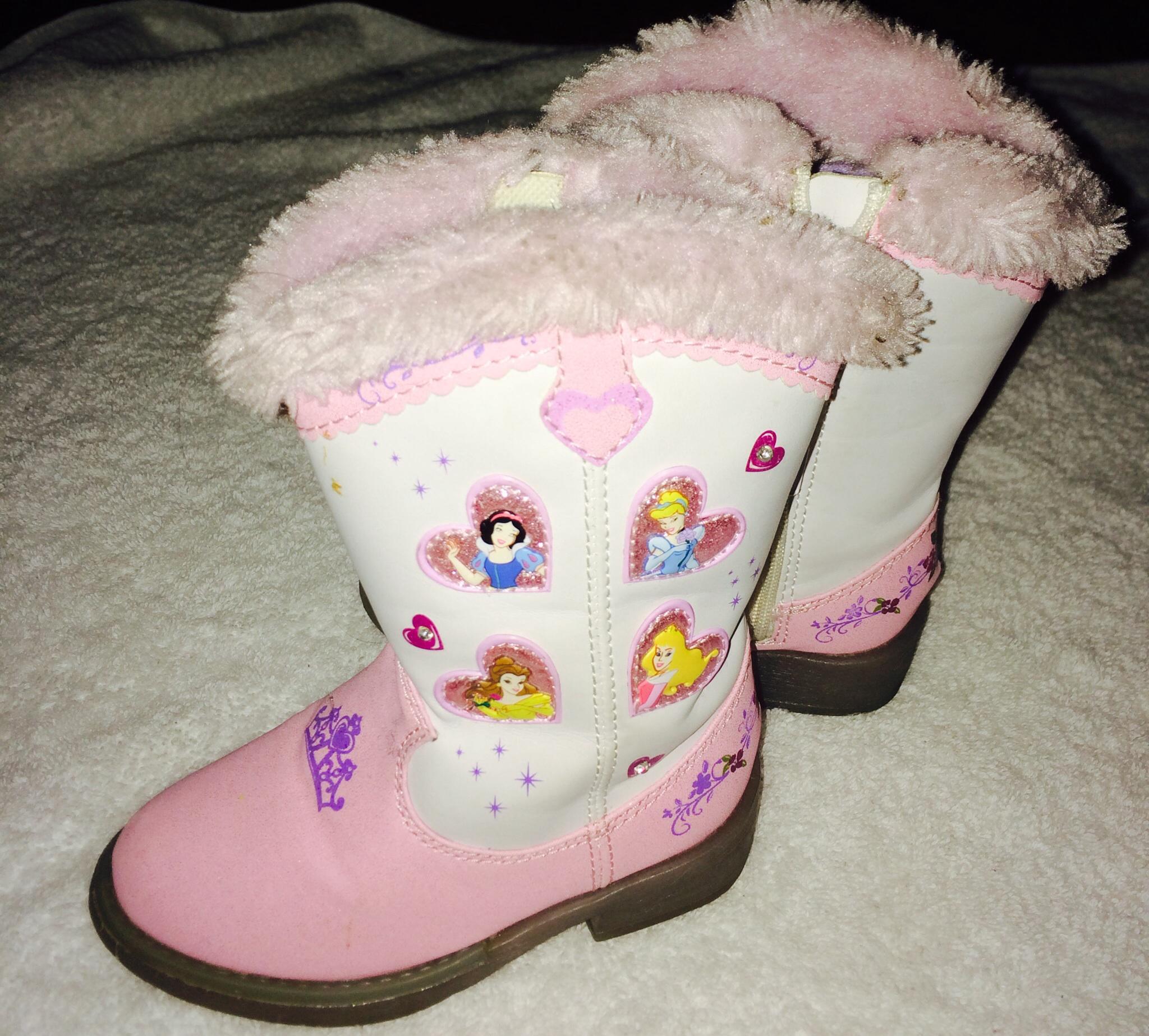 230b776862d DISNEY Princess Light Up Cowgirl Boots Toddler Size 6