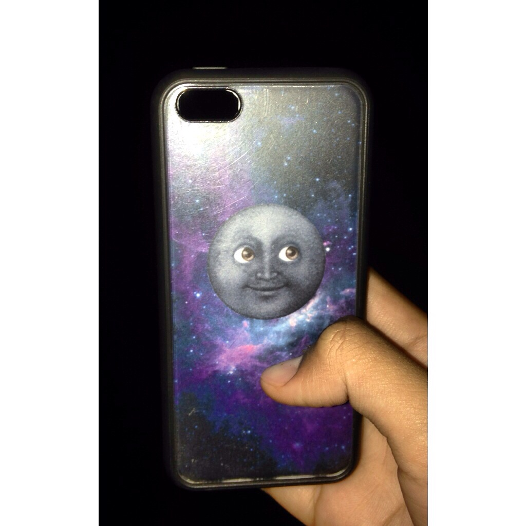 online store b4fc8 083ef Moon Emoji Space Case from Forbiddn Goods
