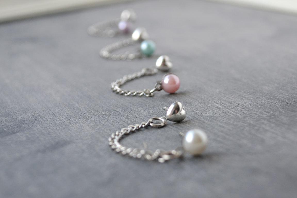 Pearl Double Lobe Pierce Earrings Set Of 2 Sold By Of Lovely Things On Storenvy