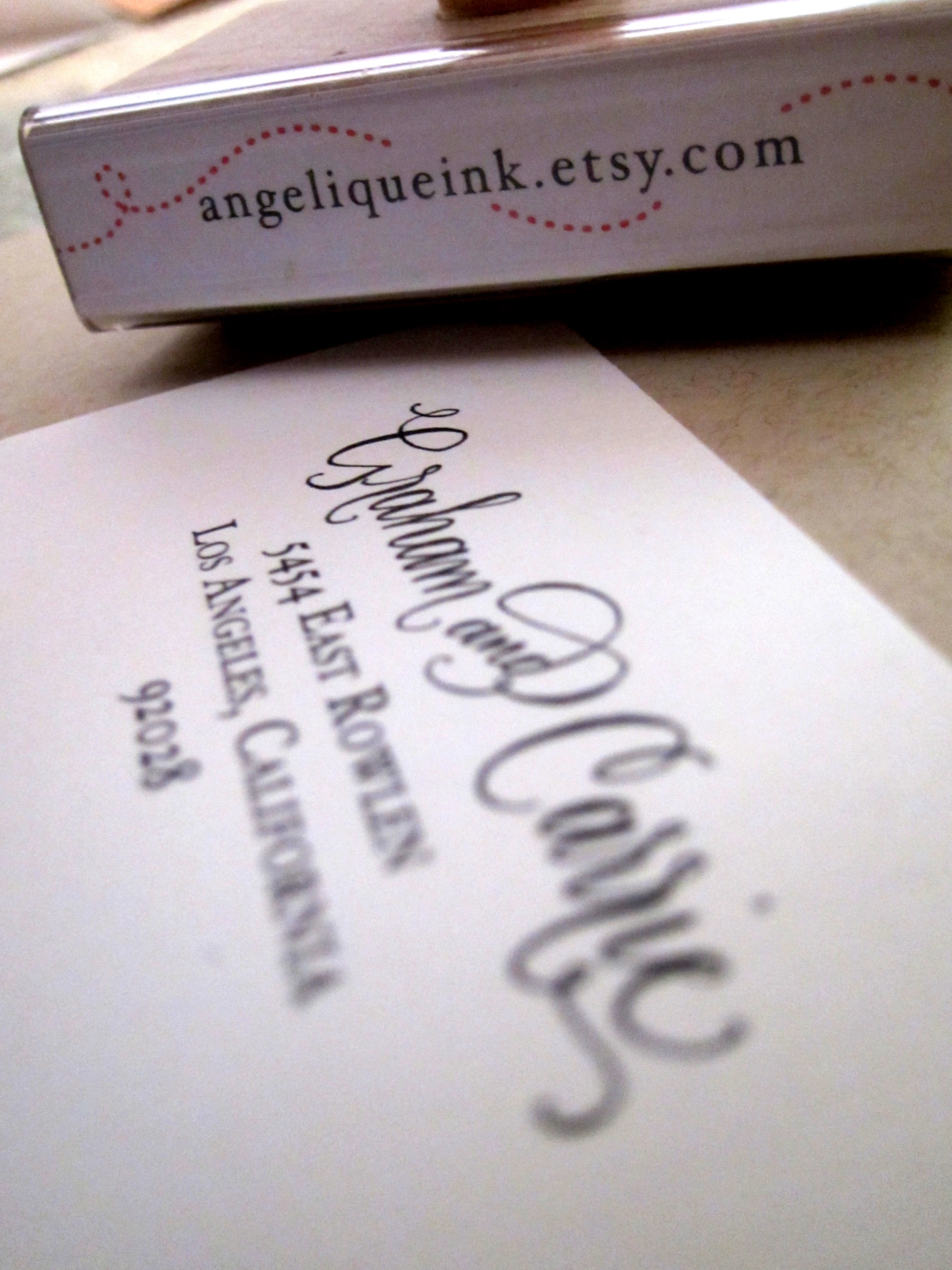Custom Calligraphy Address Stamp Hand Calligraphy And