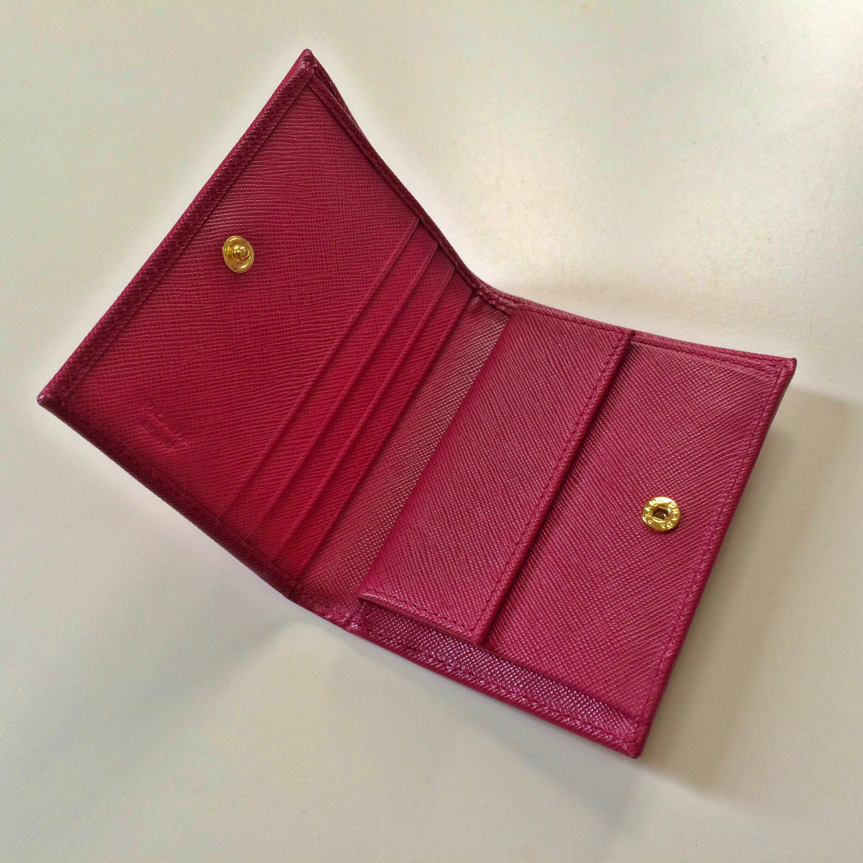 322b675b2d248b PRADA Saffiano Ibisco Bi-Fold Wallet on Storenvy