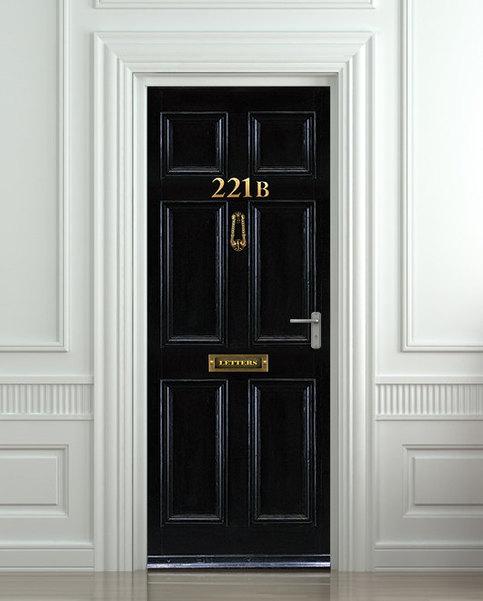 Door Wall Fridge Sticker Baker Street Sherlock Detective