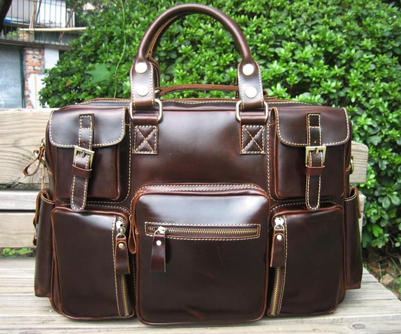 Large Handmade Superior Leather Travel Bag   Leather Messenger Bag   Overnight  Bag   Duffle Bag 4ee42a221bb41