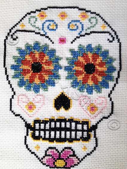 Sugar Skull Modern Counted Cross Stitch Kit On Storenvy