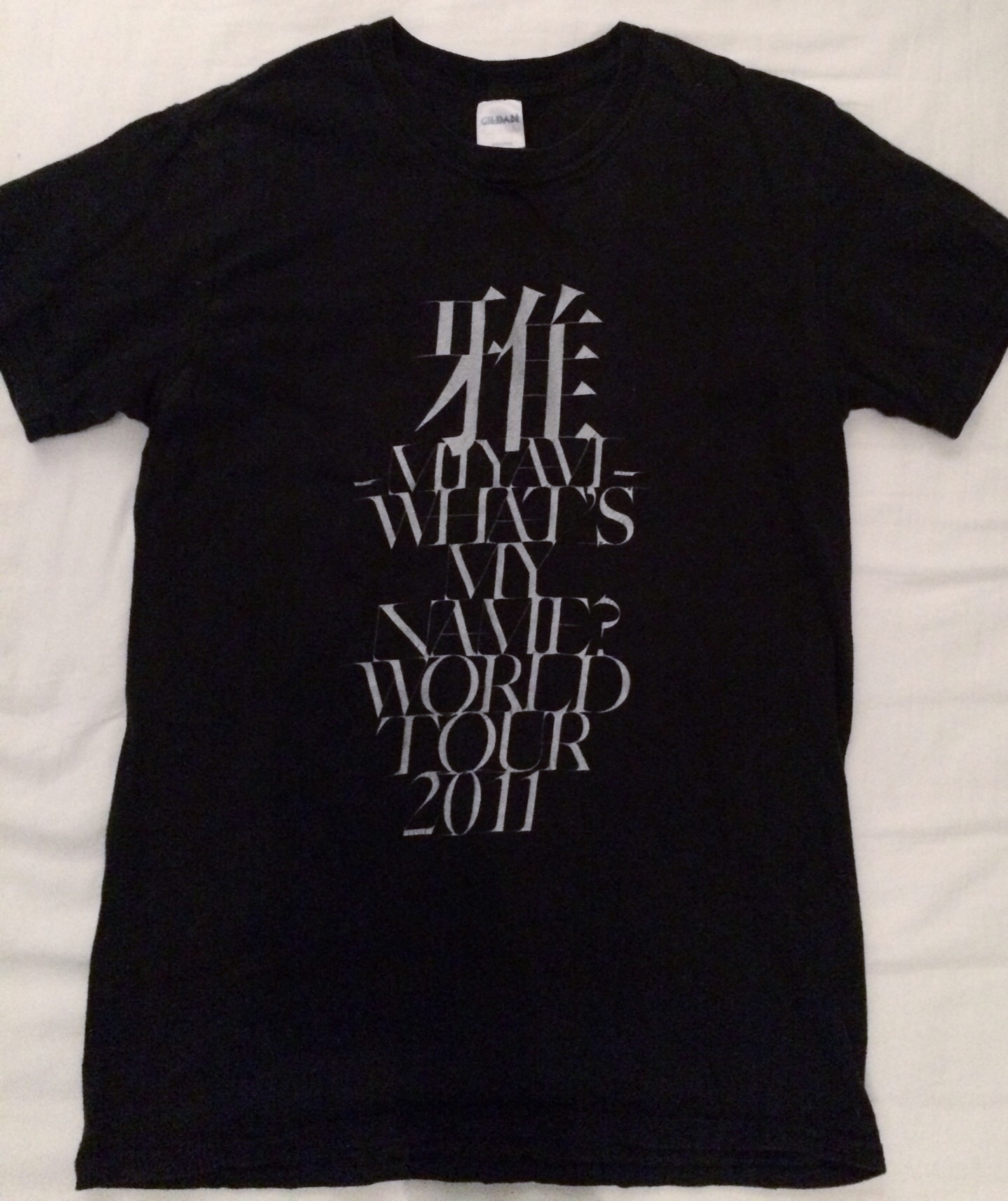 Miyavi What S My Name World Tour 2011 T Shirt Size S