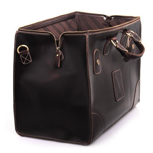 ... Vintage Handmade Superior Leather Travel Bag   Leather Luggage   Overnight  Bag   Tote   Duffle ... 2b5270d0a0c08