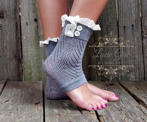 3c1fc4f3cbc36 Yoga Sock pilates Off-White Ivory cream green black pink gray Socks with  vintage lace