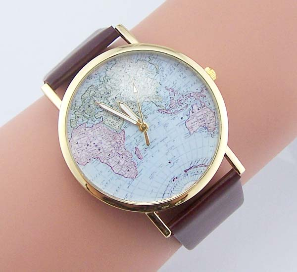 Vintage world map watch map watches wanderlust watch women watch for 21 small gumiabroncs Images