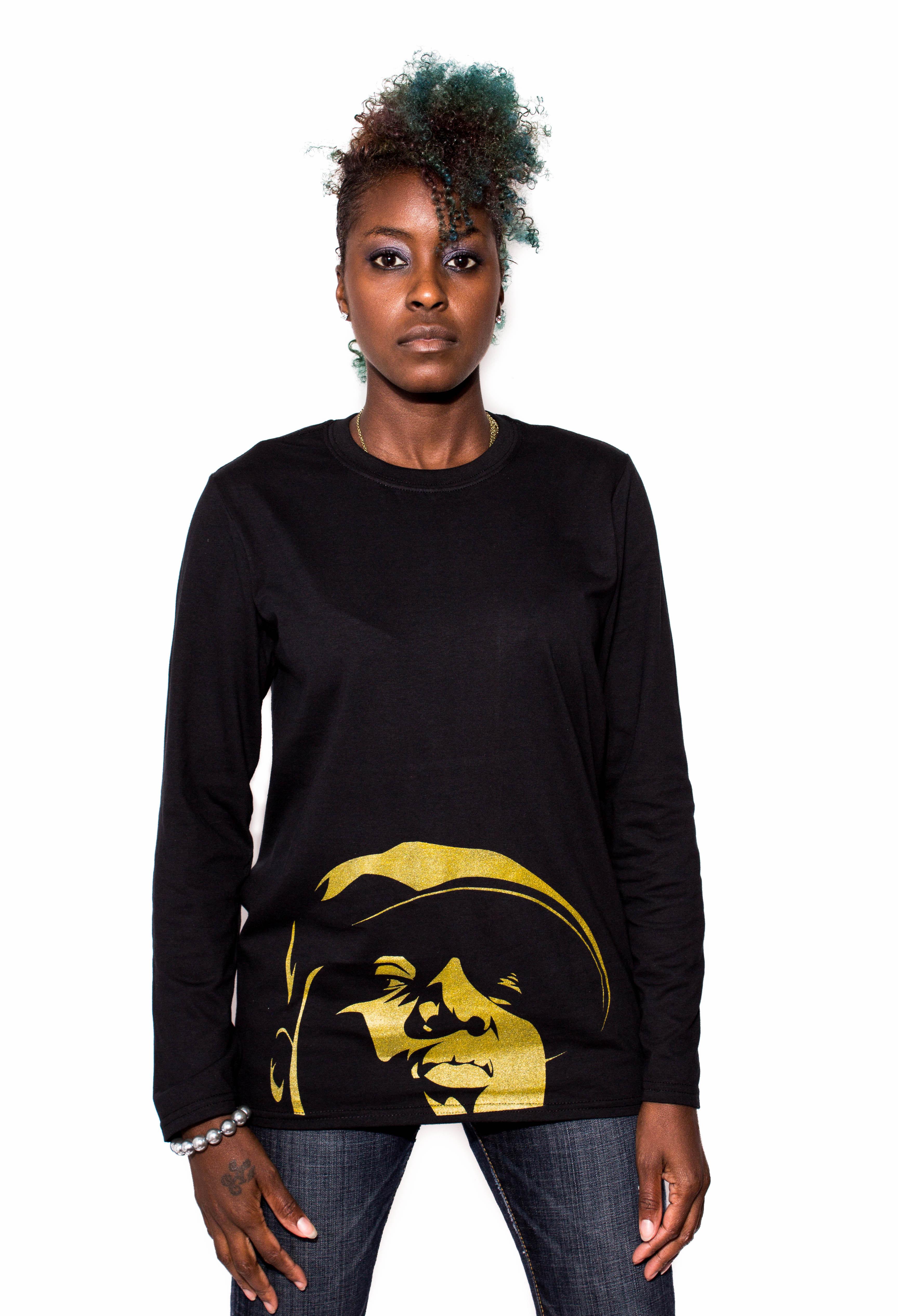 Notorious Big Long Sleeves T Shirt Gold Printing On Storenvy