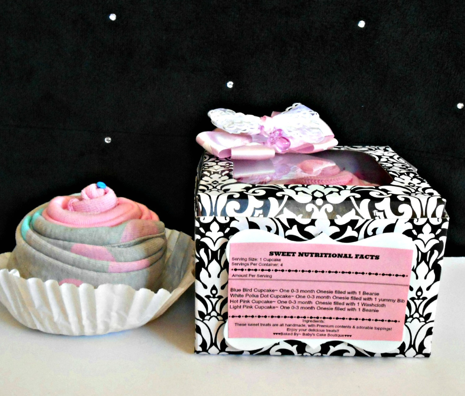 Baby Girl Shower Gift Parent Gift Baby Shower Decoration Cupcake Box Cupcake Baby Gift Baby Girl Sold By Baby S Cake Boutique