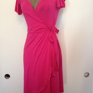 03c35f8b4c2 BARBIE PINK jersey knit WRAP DRESS xs · Bonny's Boutique · Online Store  Powered by Storenvy