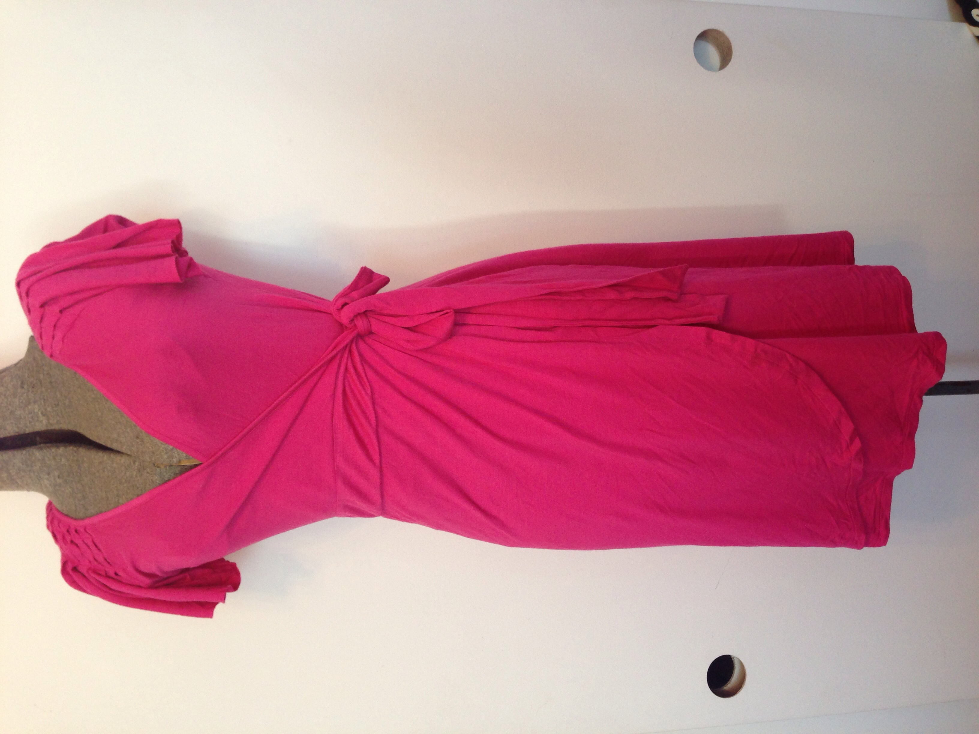 289a0303114 BARBIE PINK jersey knit WRAP DRESS xs · Bonny's Boutique · Online ...