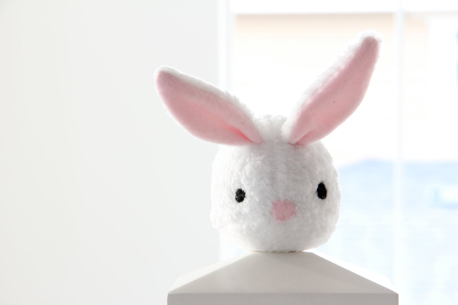 White Bunny Rabbit Plush Toy Cindy Adorable Cute Soft White