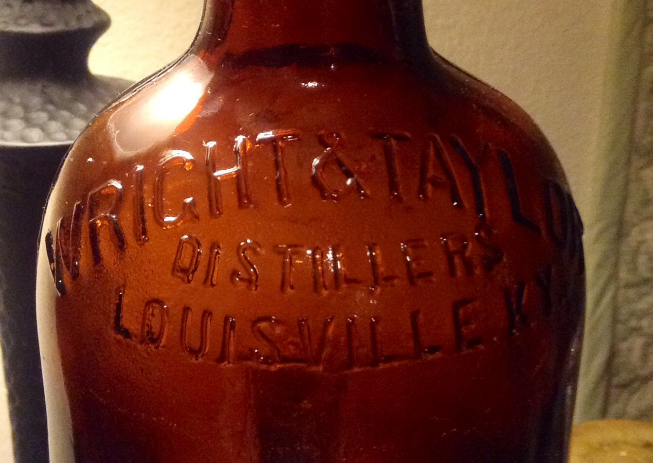 Antique Wright Taylor Distillers Louisville Ky Amber