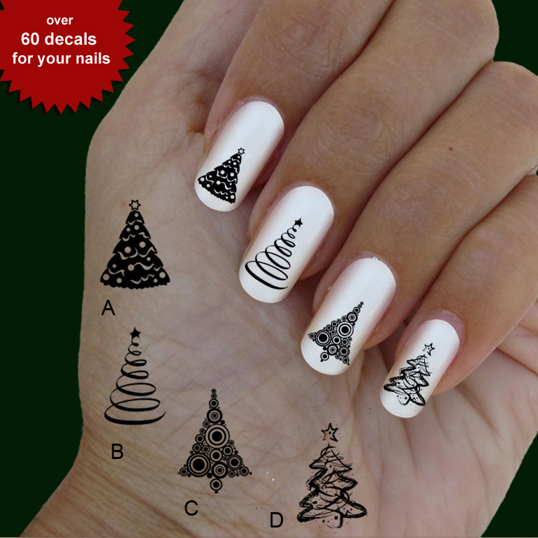 Christmas Trees Nail Art Nail Art 60 Waterslide Stickers Decal