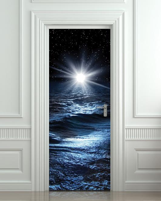 Door Sticker Sea North Star Mural Decole Film Self