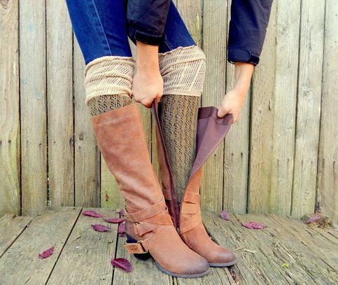 Tall Boot Socks Over The Knee Color Block Two Tone Rain Boots Short Boots Tall Boots Tights On