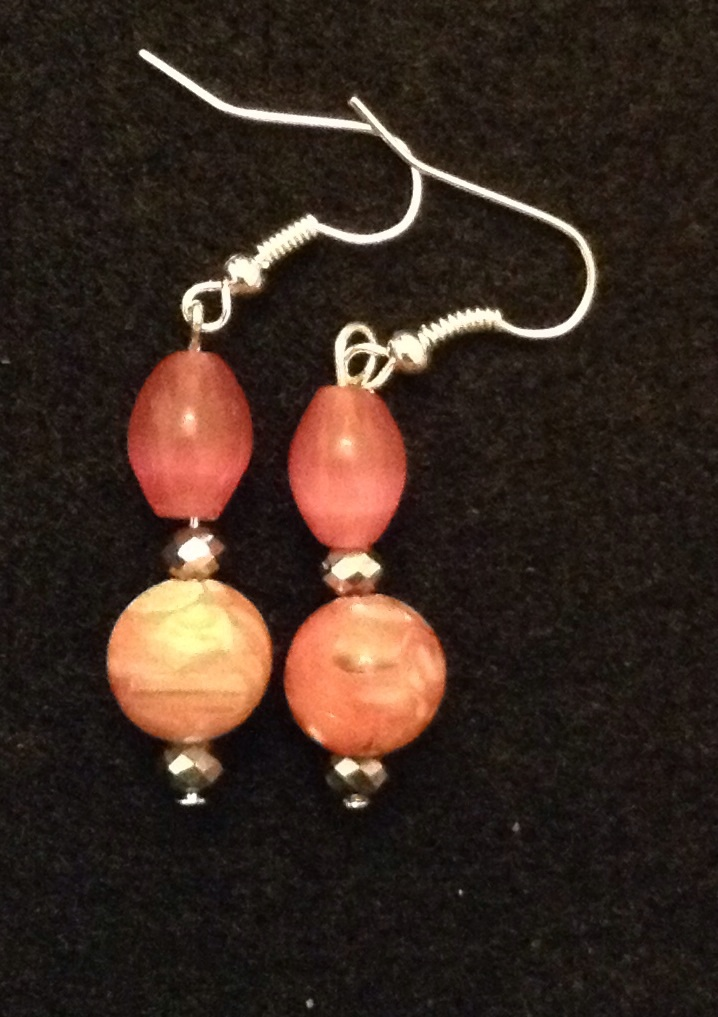 880a02818fbc30 Pink drop earrings · M Jadelle Design Co · Online Store Powered by ...